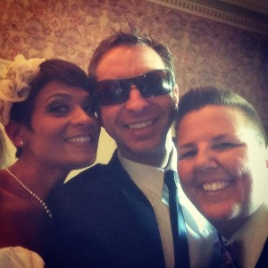 Dana, Chris Garrow and Danielle grabbin' a quick Selfie before introductions